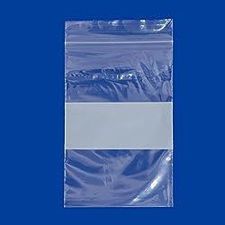 Plastic Zip Top Bag 2x3 W/White Block (Package of 100)