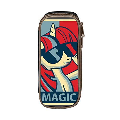 T-wilight Sparkle My-Llttle-Pony Pen Bag Pencil Case Canvas Holder Space Portable Students Stationery Box Office -