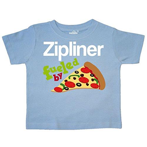 inktastic Zipline Pizza Quote Toddler T-Shirt 2T Light Blue - Lite Zip Tee