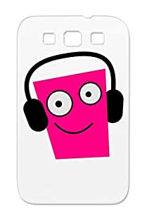 Retail Humor Maternity Face Funky Running Sports Miscellaneous Radio Pirates Cool Baby 80s Music Funny Music BUSY Neon DJ Edge Joke Pink Face Listening To His IPOD Smiling For Sumsang Galaxy S3 Protective Case