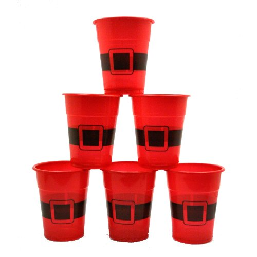 Santa Disposable Plastic Cups : package of - Supplies Christmas Party