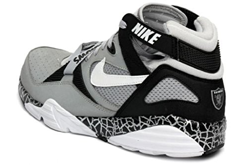 Nike Mens Air Trainer Max 91 Qs (nfl) - 615147-001 Lupo Grigio / Bianco-nero-metallo (oakland)