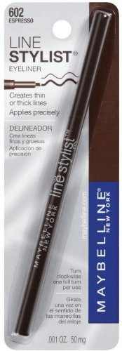 Maybelline New York Line Stylist-carded, Espresso, 0.0010 Ounce, 2 Ea