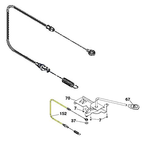 41oPsKKeWIL._SX466_ amazon com ariens oem lawn mower clutch cable 21548470 garden