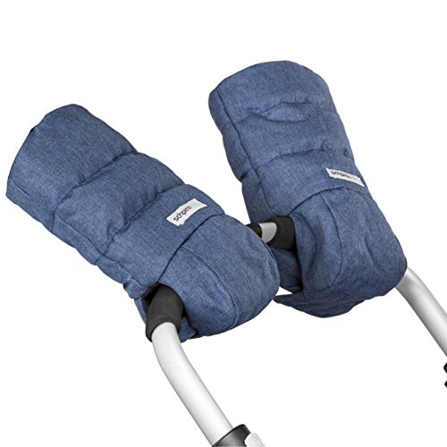 Unique Waterproof Hand Muff Gloves Attached on Baby Strollers - Extra Thick Winter Mitt with Heat Retention Lining - Anti-Freeze Quality  Unisex for Both Parents and Caregivers - One Size Fits All