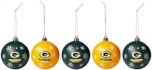 Green Ornaments Bay Packers - Green Bay Packers 2016 5 Pack Shatterproof Ball Ornament Set