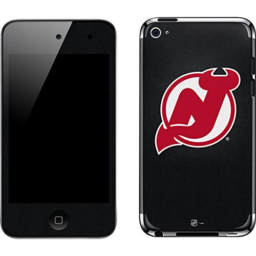 (NHL New Jersey Devils iPod Touch (4th Gen) Skin - New Jersey Devils Black Background Vinyl Decal Skin For Your iPod Touch (4th Gen) )