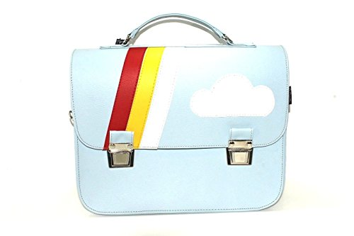 The Cartella Knob - Backpack Bag Synthetic Leather Azure Blue Woman