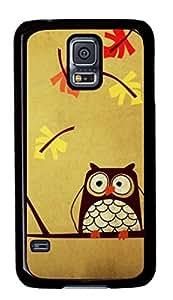 PC duro negro plástico funda protectora para Samsung Galaxy S5, búho Carcasa para Samsung Galaxy S5en caso DDJK