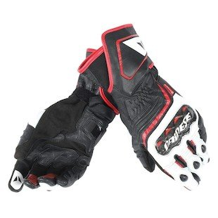 Dainese Carbon D1 Long Gloves (MEDIUM) (BLACK/WHITE/LAVA RED)