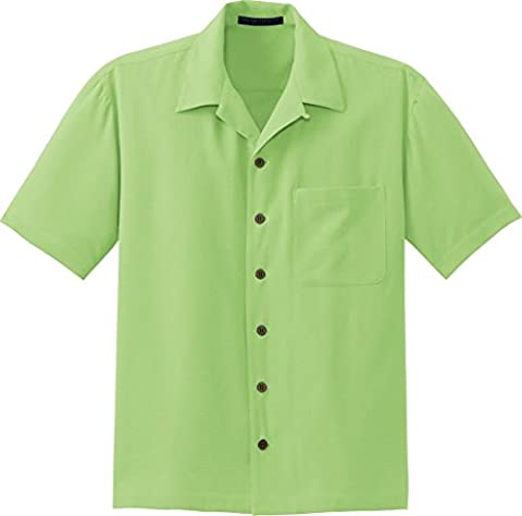 Port Authority Signature Port Authority Signature - Silk Blend Camp Shirt. S533 - M - Lime Sherbet - Signature Camp Shirts