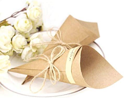 JZK 50 Bricolaje kraft papel marcador posición tarjeta invitación favor para boda confeti cumpleaños fiesta bebé ducha sagrada comunión Navidad ...