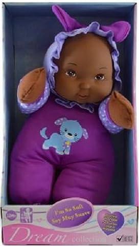 Dream Collection I'm so Soft Washable Dark Skin Doll for Children 12 months or Older, Purple - Littlest Angel Doll