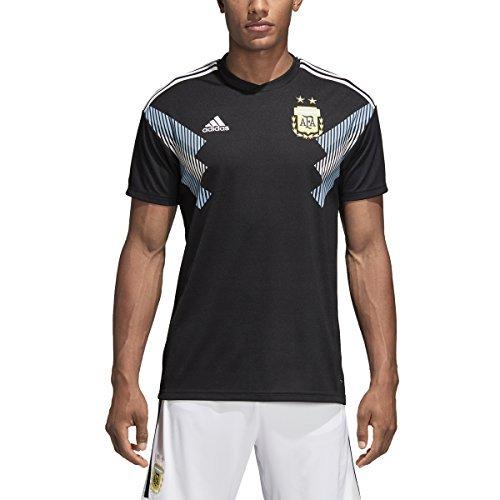 adidas Argentina Away Replica Jersey - Men's Soccer 2XL Black/Clear ()