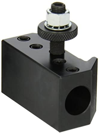 """Dorian Tool QITPN-4-CNC Heavy Duty Chromium Molybdenum Alloy Steel Quick Change Boring Bar Toolholder with CNC Locking System for QITP25N Quadra Indexing Quick Change Tool Post, 3/4"""" Tool Capacity, 2-3/4"""" Width, 1-31/64"""" Height"""