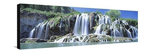 Idaho, Bonneville County, Tributary Waterfall on the Snake River Stretched Canvas Print by Panoramic Images - 42 x 14 in