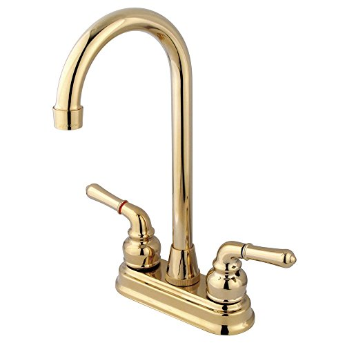 Kingston Brass KB492 Magellan 4-Inch Bar Faucet, 4-3/4-Inch, Polished - Faucet Bar 4