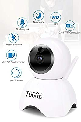 WiFi Pet Dog Camera TOOGE Pet Monitor Indoor Home Cat Camera for Baby/Elder/Nanny Motion Detection Night Vision 2-Way Audio