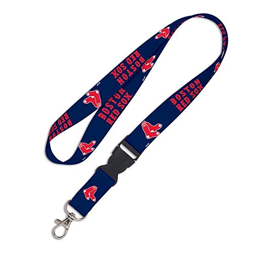 (WinCraft MLB Boston Red Sox 37343011 Lanyard with Detachable Buckle, 3/4