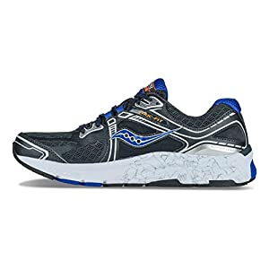 Saucony Mens Omni 15 Running Shoe Grey/Blue/Silver 9.5 EE - Wide