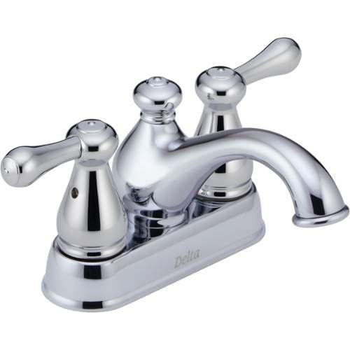 Delta Faucet 2578LF-MPU Leland, Two Handle Centerset Lavatory Faucet, Chrome by DELTA FAUCET