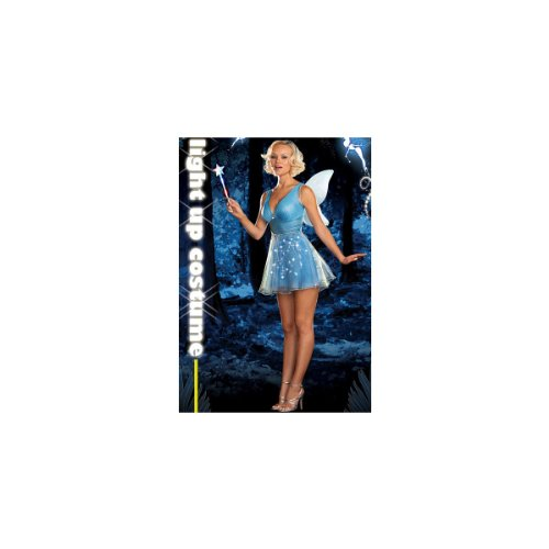 True Blue Fairy Adult Costume - (Light Up Costumes Couples)
