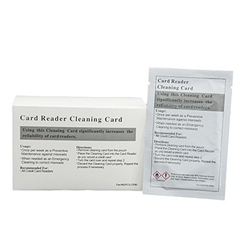 50pk Presaturated Swipe Head Cleaning Cards (Dual (50 Cleaning Cards)
