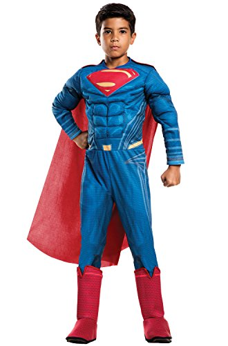 Rubie's Costume: Dawn of Justice Deluxe Muscle Chest Superman Costume, Small (Superman Halloween Costumes For Kids)