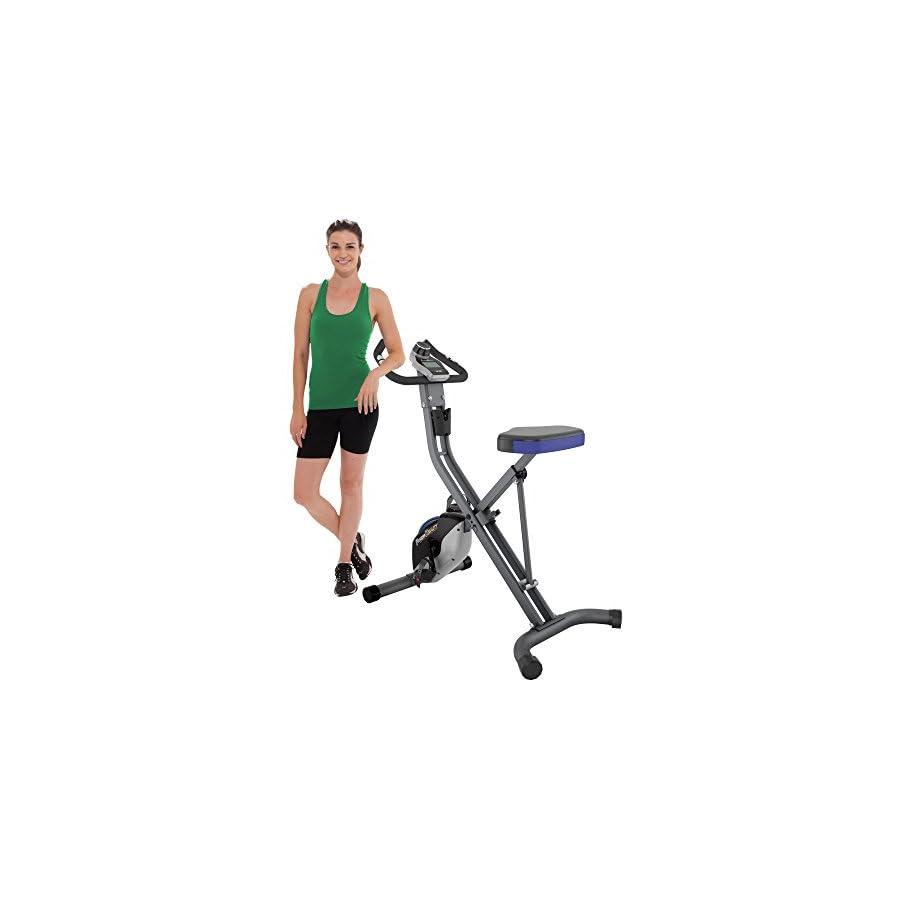 Fitness Reality U2500 Super Max Foldable Magnetic Upright Bike, 400 Lbs