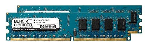 2GB 2X1GB RAM Memory for AOpen B, C, D, E Series Motherboard EB945-V DDR2 DIMM 240pin PC2-5300 667MHz Black Diamond Memory Module Upgrade (Series E Motherboard)
