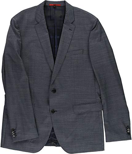 Hugo Boss Mens Slim-Fit Two Button Blazer Jacket Blue ()