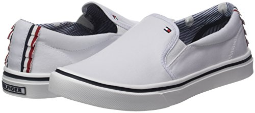 Basses Light Sneakers Slip Weight Tommy Femme 100 On Blanc Hilfiger Textile white UnE0Uqw7