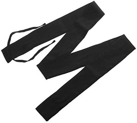 DIVISTAR Cotton Cloth Fishing Rod Protector Sleeve Sock Storage Bag Black