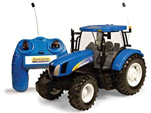 Racing Champions International - Tractor New Holland R/C Pilas Con Luces Y Sonidos 120-42601