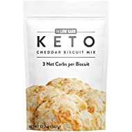 Low Karb - Keto Biscuits Mix - Low Carb Food - Easy to Bake - Breakfast - Only 3g Net Carbs (Cheddar) (12.2 oz)