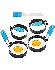 FireKylin Egg Ring,4 Pack Stainless Steel Egg Cooking Rings Set