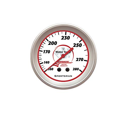 (Longacre 52-46516 Water Temp Gauge 100-280Degrees AccuTech Sprtsmn)