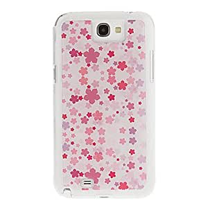 Bkjhkjy Pink Flowers Drawing Pattern Neutral Stiffiness Silicone Gel Back Case Cover for Samsung Galaxy Note2 N7100