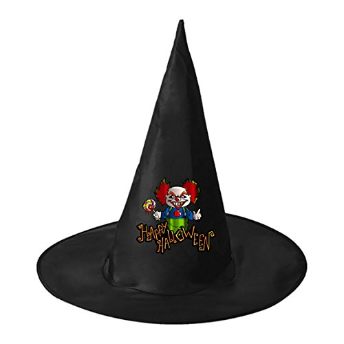 Hocus Pocus Movie Costumes Adults (Halloween hat Happy Halloween Women Black Deluxe Witch Costume Hat Costume Accessory for Halloween)
