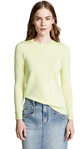 525 America Women's Crew Neck Sweater, Citrus, Yellow, X-Small