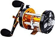 Sougayilang Fishing Reels Round Baitcasting Reel - Conventional Reel - Reinforced Metal Body and Supreme Star