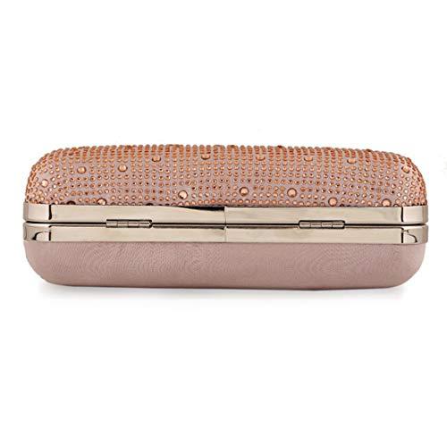 Diamond Satchel Fashion Donna Oro Nero Bag colore Ploekgda Tide Clutch Evening Satin tqHBwfYw