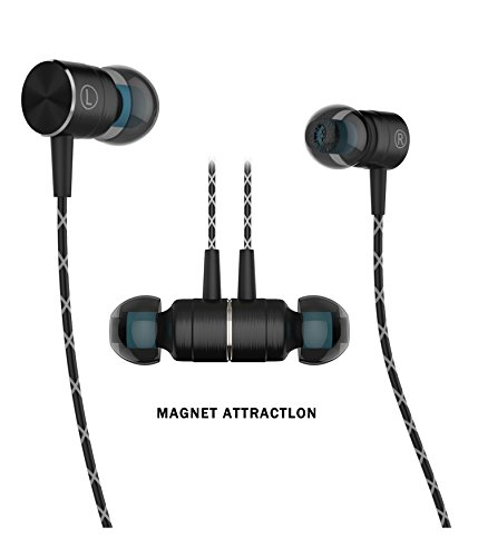 Earphones,TRONOE Sport HIFI In-Ear Earbuds Heaphones Headset Earphones with Noise Isolating Headset Magnet Attraction Earphones with Mic and Volume Control. (Black)