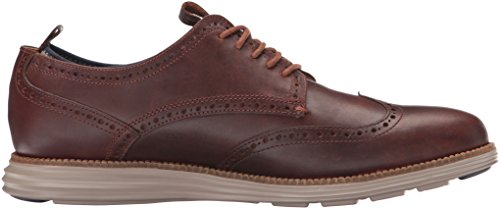 Cole Haan Mens Original Grand Wing Novelty Sock Oxford Harvest Brown/Cobblestone Knit OSxtk