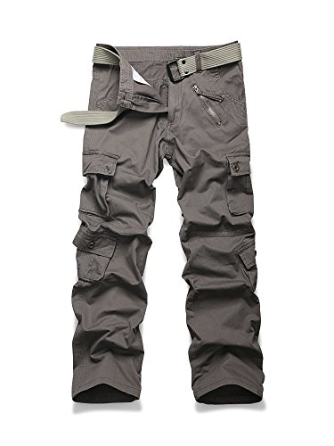 Military Army Kids Bdu Pant - OCHENTA Men's Outdoor Woodland Military Cargo Pant #022 Grey Army Green 34