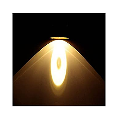 Honeysuck 5W Lumière LED rechargeable Super Light Phare de chasse lampe frontale conçu (Jaune clair)