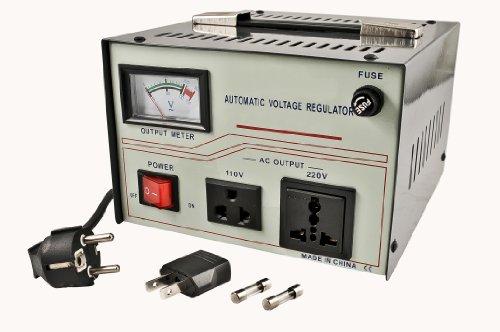 Simran AR-50000 W Regulador y estabilizador de voltaje con Transformador de tensión de subida/bajada incorporado para CA...