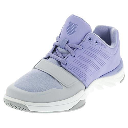 Cheap K-Swiss Women's X Court Athleisure Cross-Trainer Shoe, Deep Periwinkle/Gray Dawn, 9.5 M US