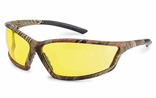 - Gateway Safety 41CMX74x4 Comtemporary Wraparound Safety Glasses, Amber fX3 Premium Anti-Fog Lens, Camo Frame