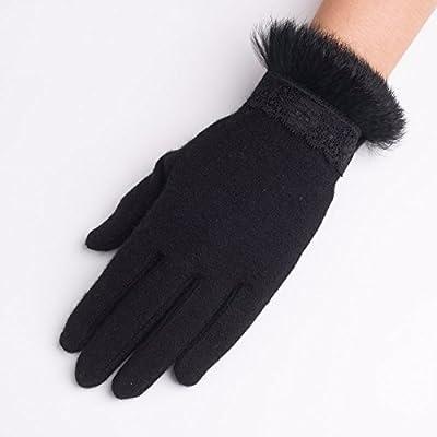 GAYY Gants dames hiver chaleur gants de doigt de dentelle